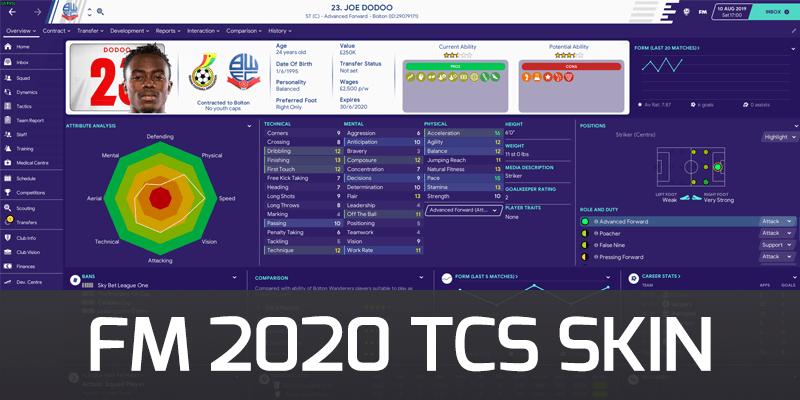 fm 2020 tcs skin
