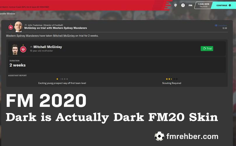 fm 2020 dark is actually dark