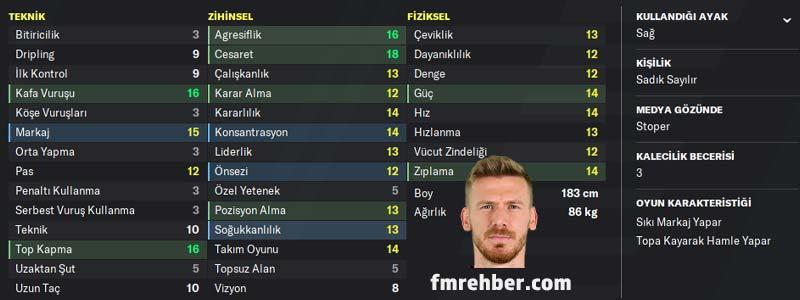 fm 2020 en iyi türk oyuncular serdar aziz