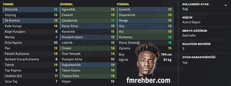 fm 2020 en iyi genç oyuncular tammy abraham