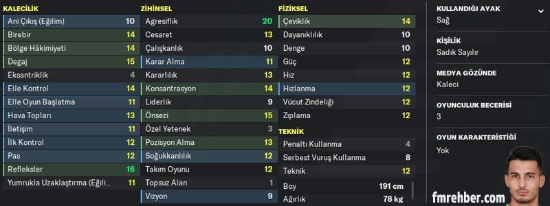 fm 2020 en iyi türk oyuncular uğurcan çakır