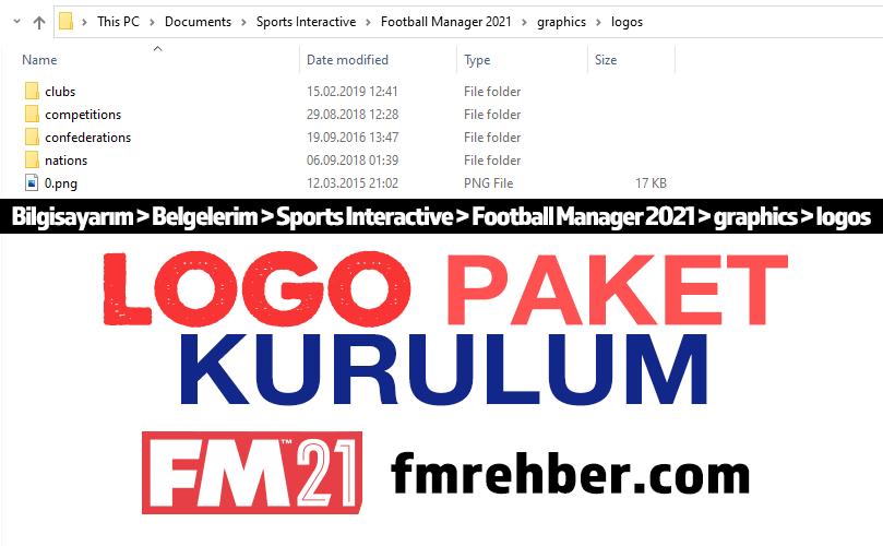 fm 21 logo paketi yükleme